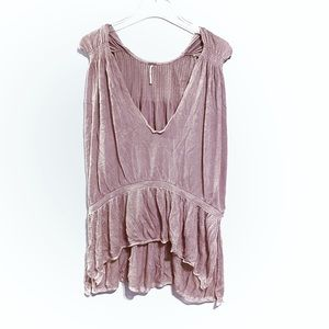 Free People Make Me Blush Blouse in Rose